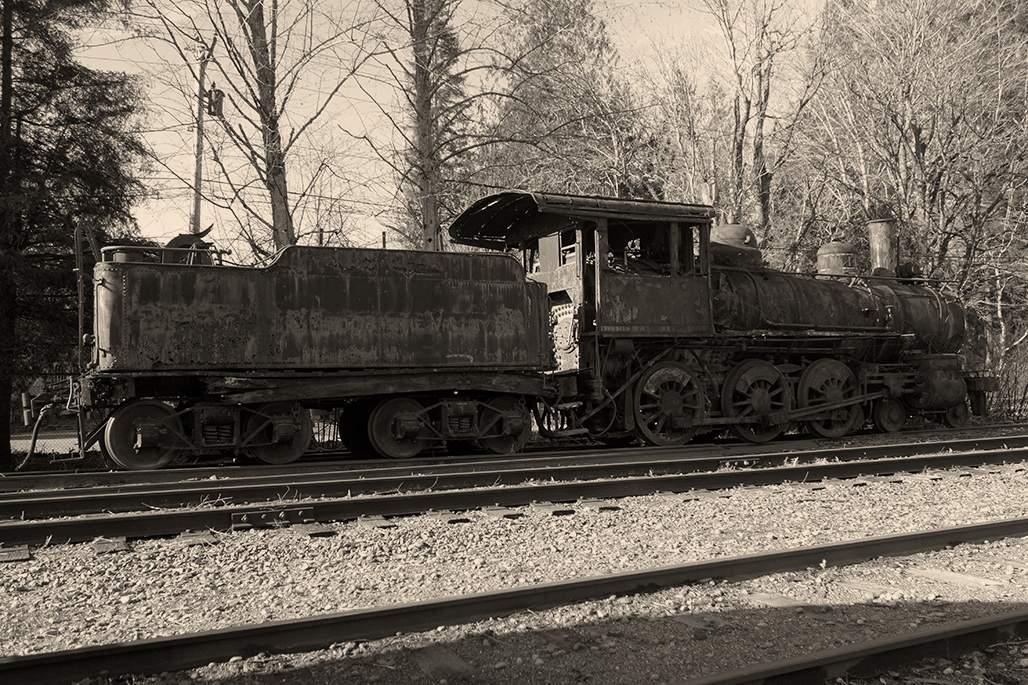 Railroad Exhibit in Downtown Snoqualmie
