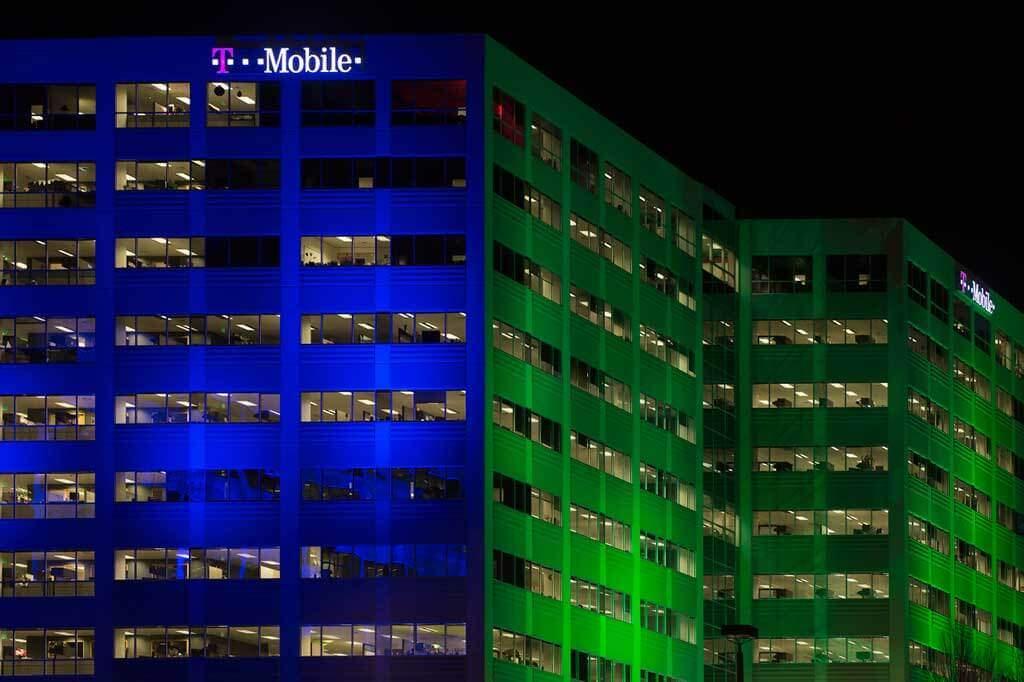 Tmobile Building in Factoria at Night