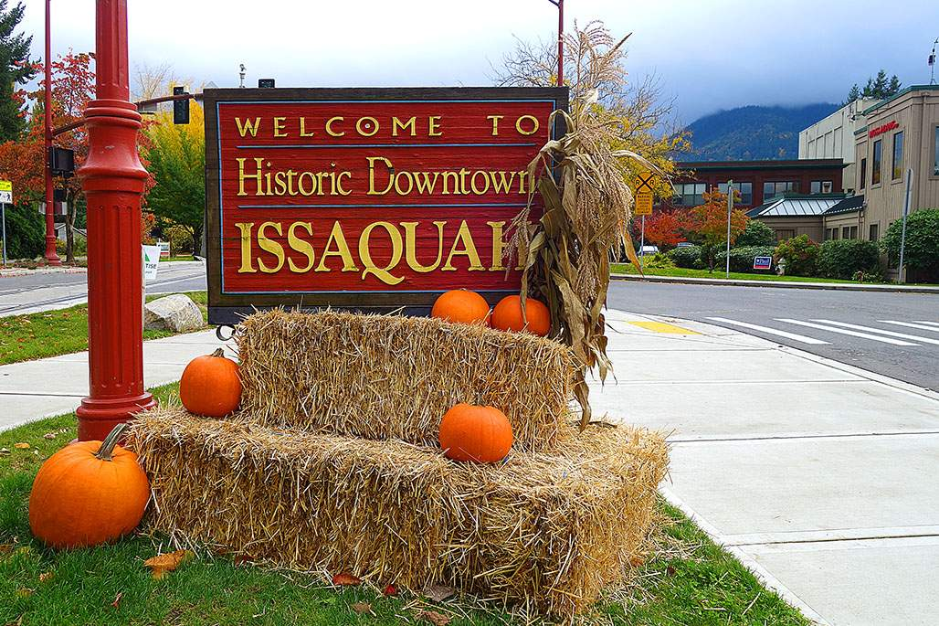 Historic Issaquah Sign Entrance